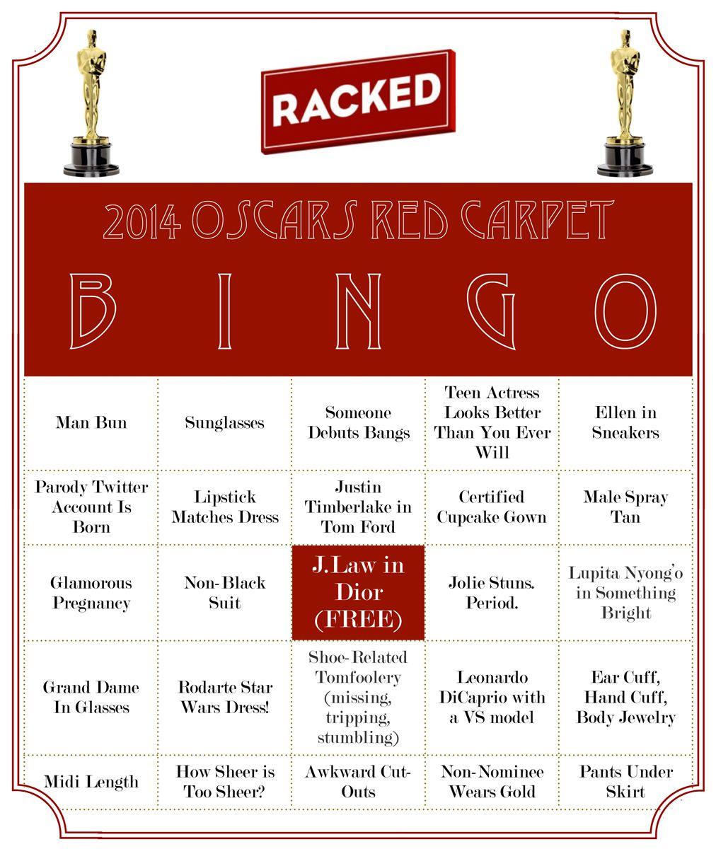 Oscars Red Carpet Drinking Game
