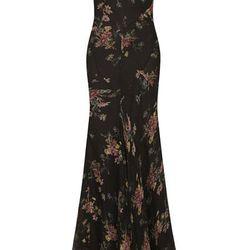 **FLORAL CHIFFON MAXI DRESS, $360