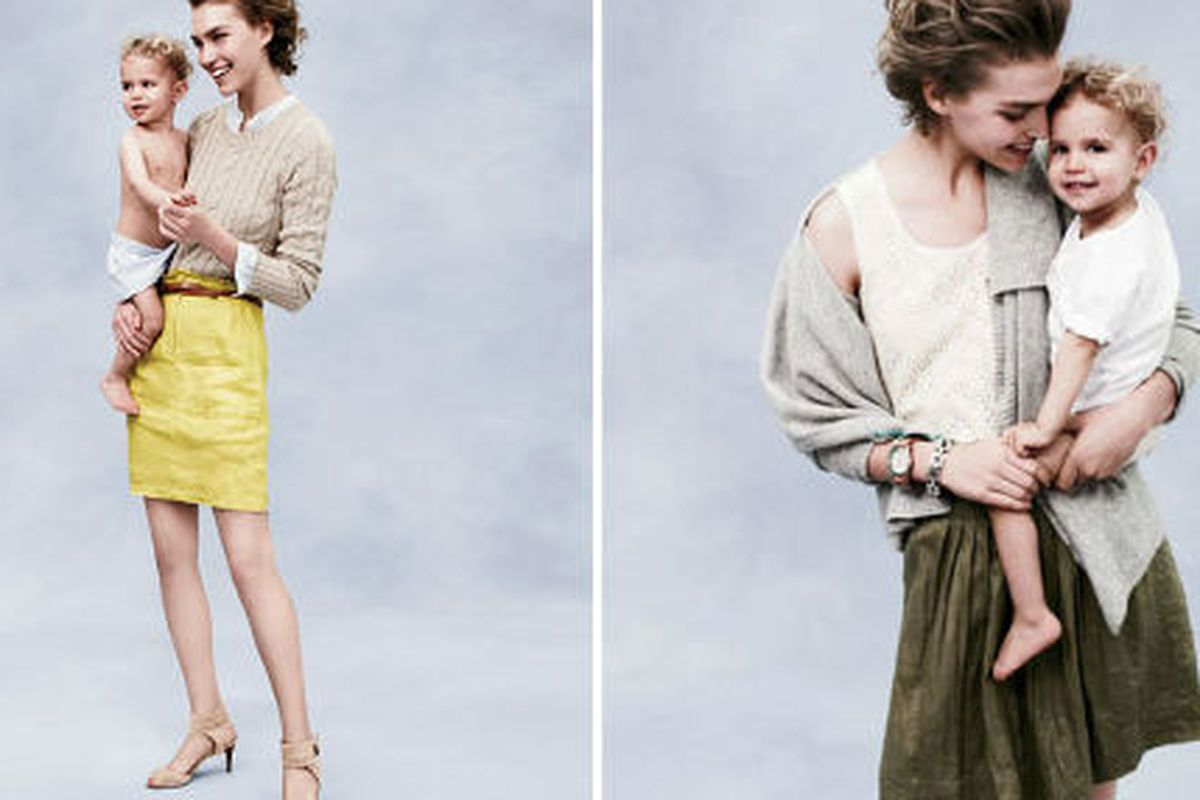 Remember this shoot Arizona Muse did with her son Nikko for the J.Crew catalog last spring? Aw...