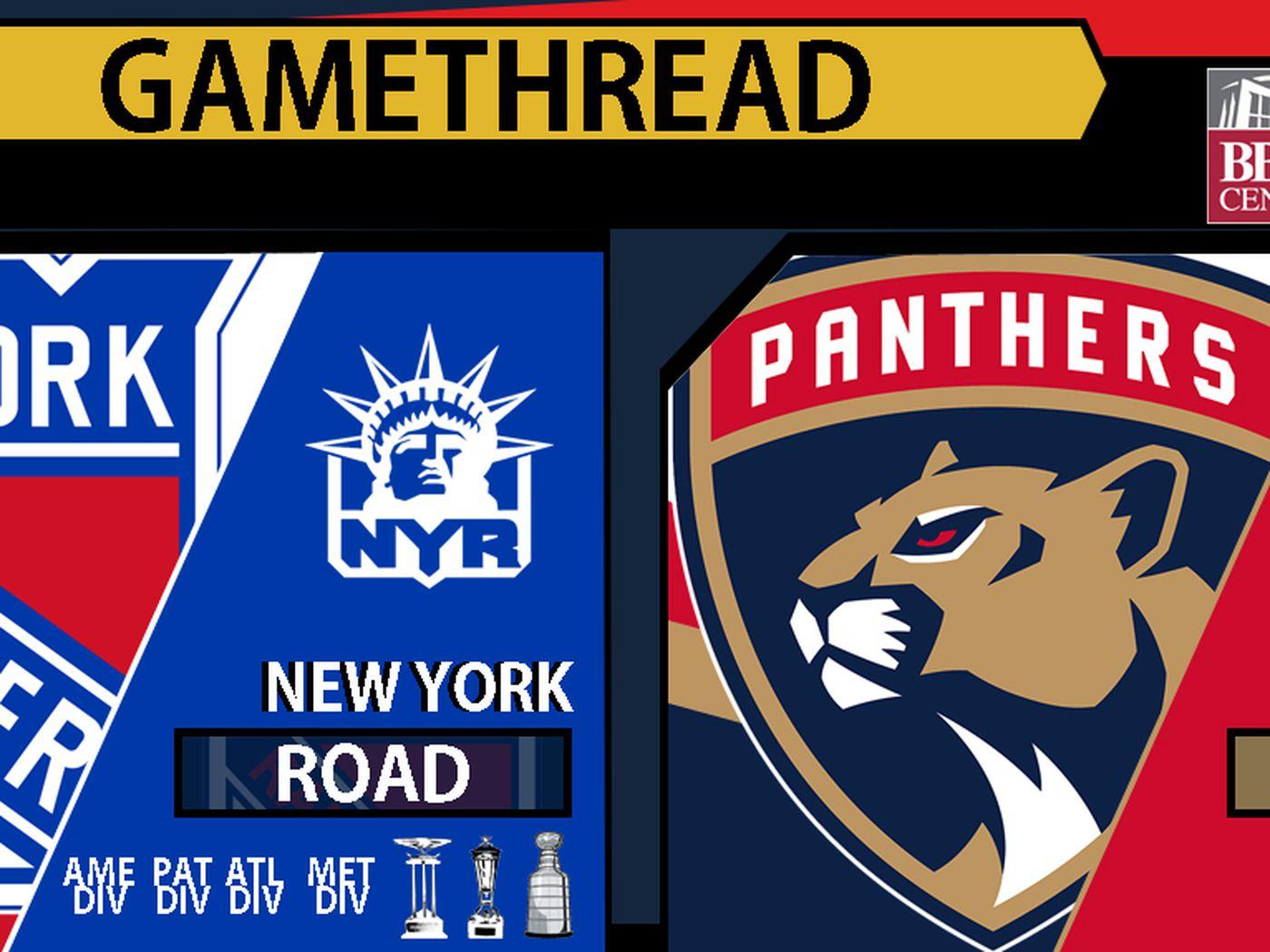 Gamethread Florida Panthers Vs New York Rangers Litter Box Cats