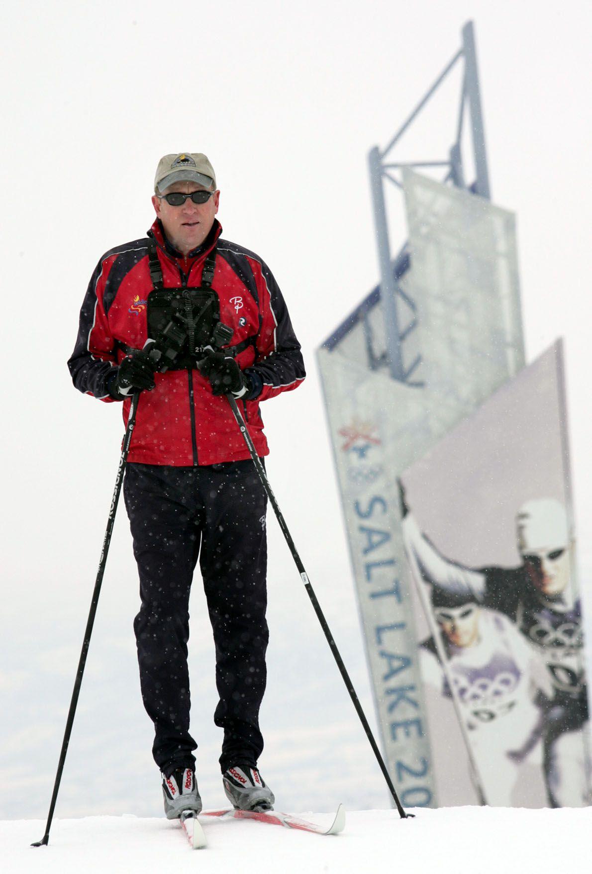 Howard Peterson at Soldier Hollow in Heber Valley, Utah Feb. 18, 2005.