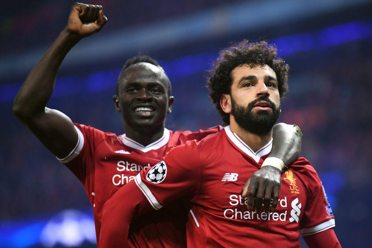 Sadio Mane and Mohamed Salah - Liverpool - Premier League