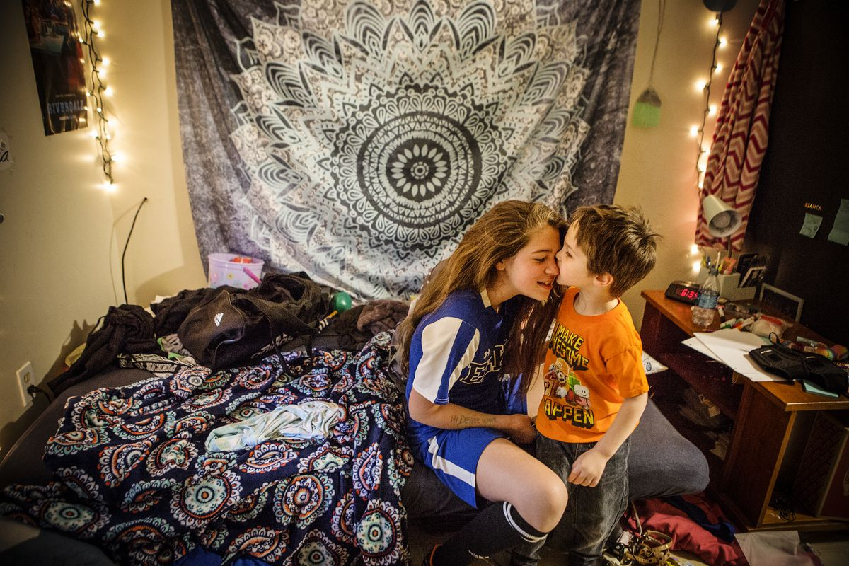 Fawn Ricciuti's children Bianca, 13, and Aiden, 5. Ricciuti said addiction treatment has allowed her to spend more time with her kids — including getting her daughter to soccer practice.