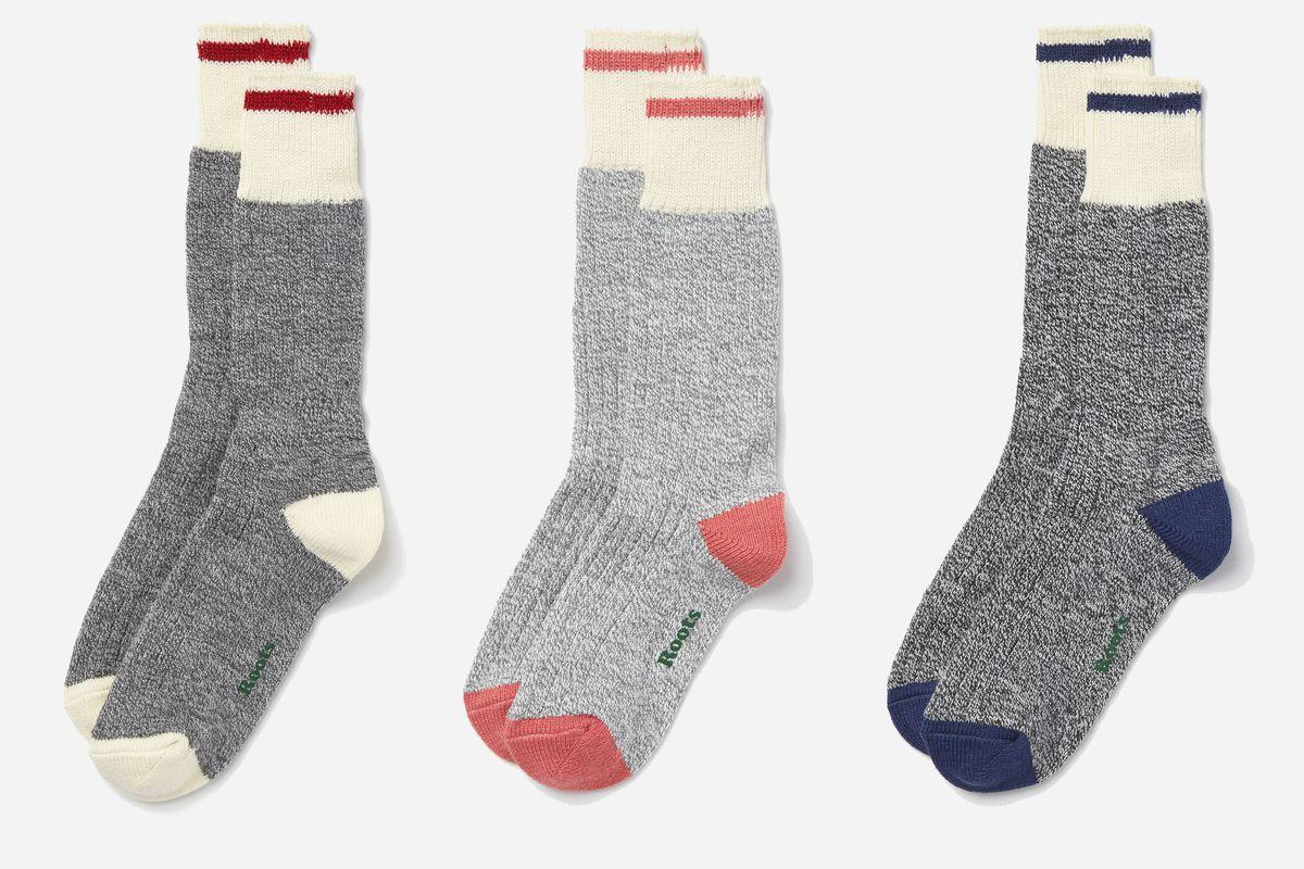 Three warm winter socks