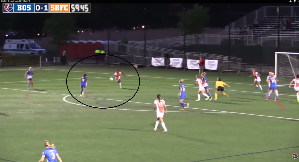 Cameron's punch falls to the now open McCaffery who is able to score on what is essentially an open goal