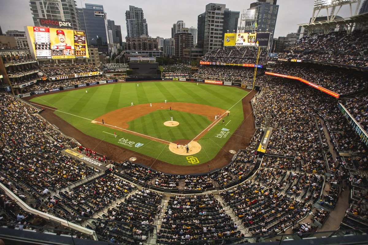A general view of the ballpark as the San Diego Padres play against the Cincinnati Reds on June 17, 2021 at Petco Park in San Diego, California.