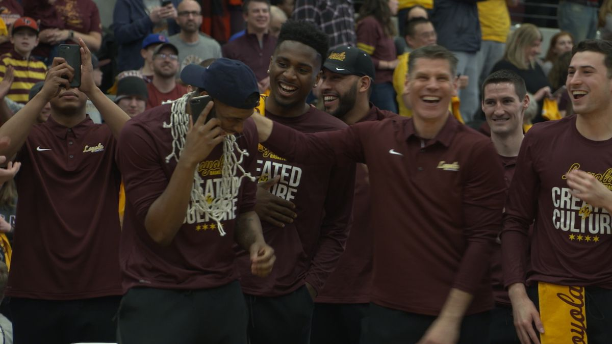 Aundre Jackson called his mom after he found out Loyola was beginning its NCAA Tournament run in his hometown Dallas. | Annie Costabile/Sun-Times