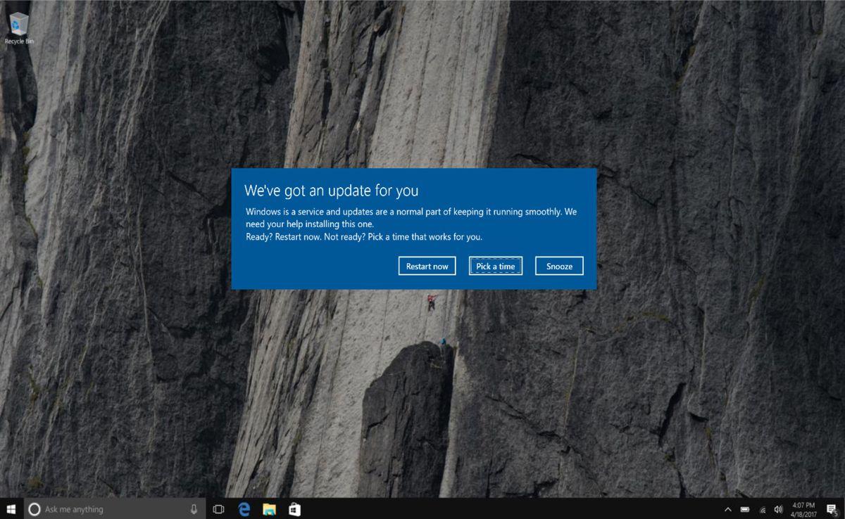 Microsoft is making it easy to stop Windows 10 rebooting