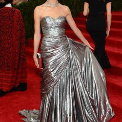 Worst Use of Shiny: Lily Aldridge (Michael Kors)