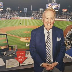 You, too, can pretend you met Vin Scully