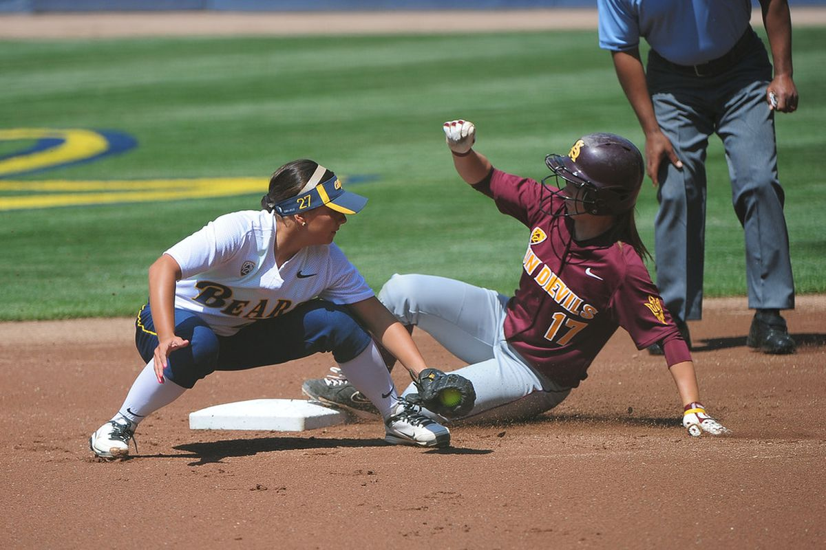 Cheyenne Cordes hit her seventh home run of the season to drive in Cal's only runs of the game.