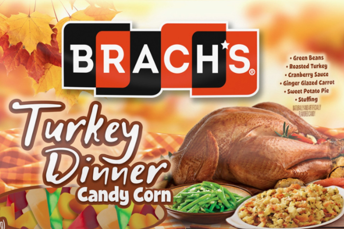 Turkey Dinner Candy Corn is available at participating Walgreen's stores.