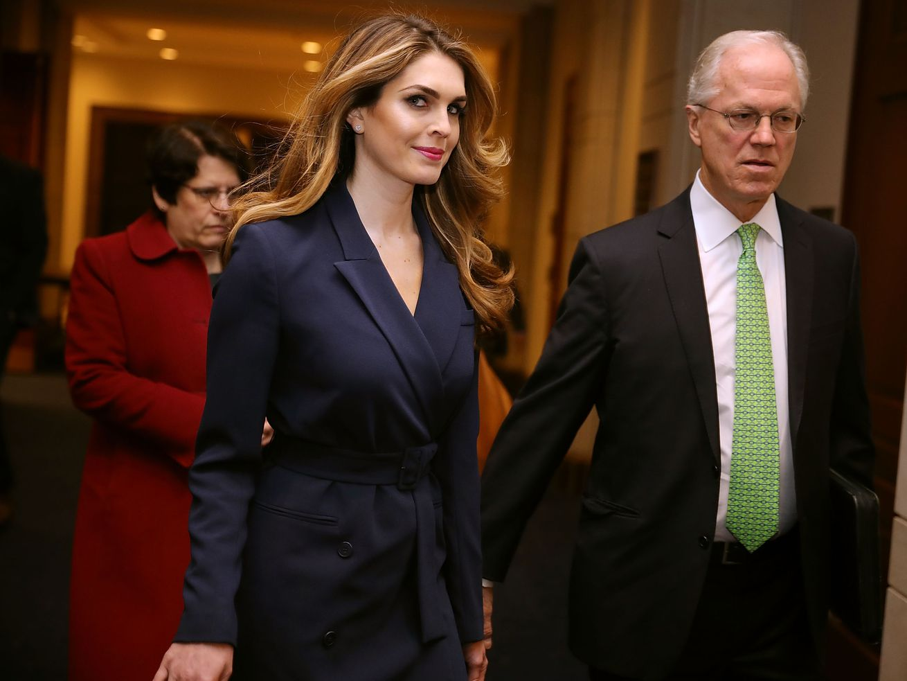 White House Communications Director and presidential advisor Hope Hicks arrives at the Capitol Visitors Center February 27, 2018, in Washington, DC.