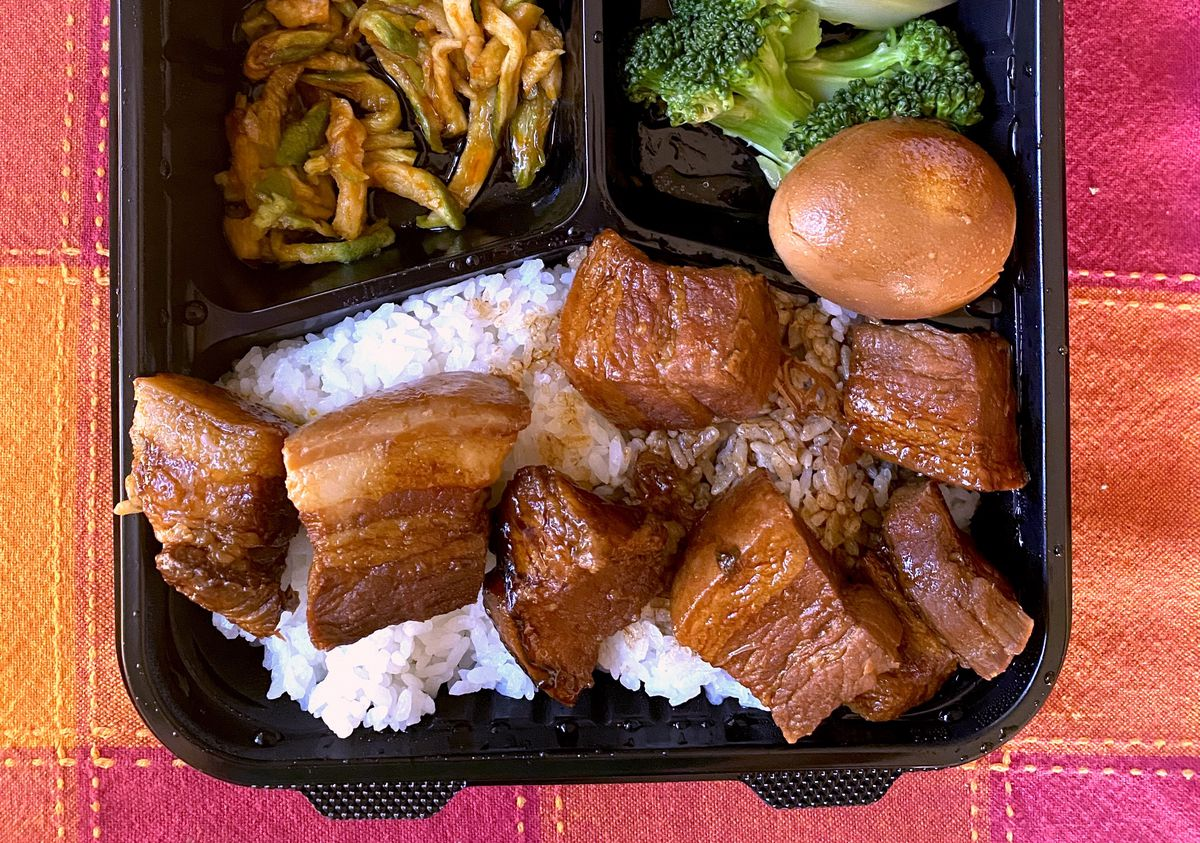 Red braised pork at No. 1 Express in Arcadia.
