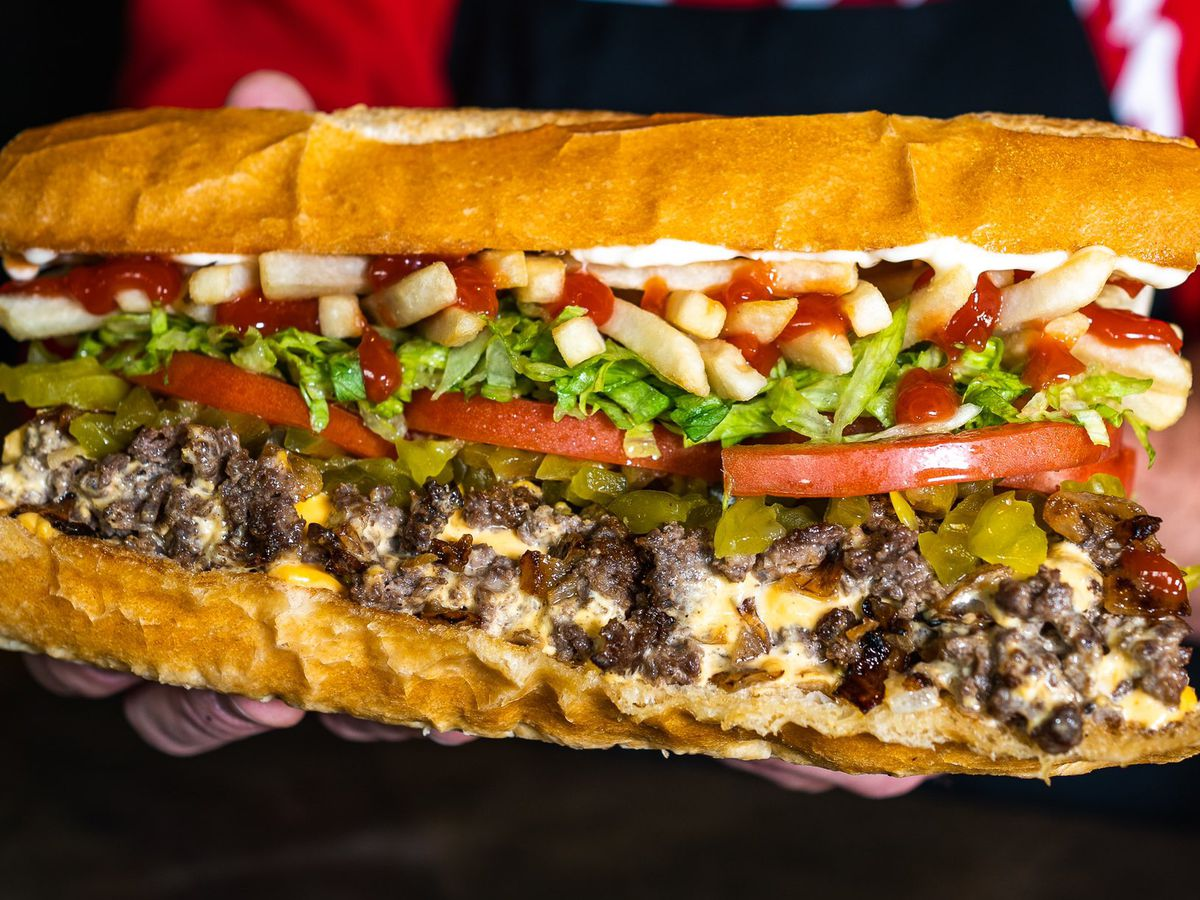 The Fat Bodega sandwich from Fat Sal's restaurant in Los Angeles.