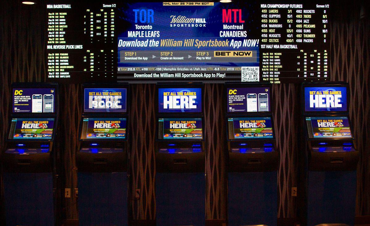 Self-serve betting kiosks at William Hill Sportsbook