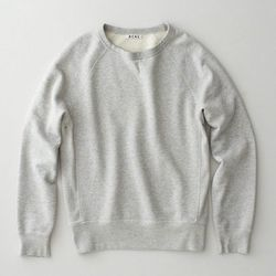 "<strong>Acne</strong> College Melange in Grey, <a href=""http://shop.acnestudios.com/shop/men/sweatshirts/college-grey-melange.html"">$170</a>"