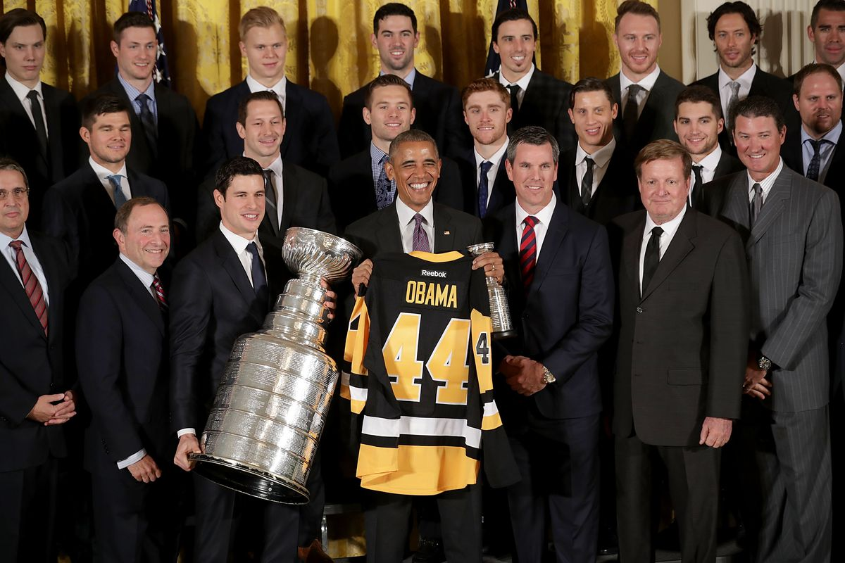 President Obama Welcomes NHL Champion Pittsburgh Penguins To The White House