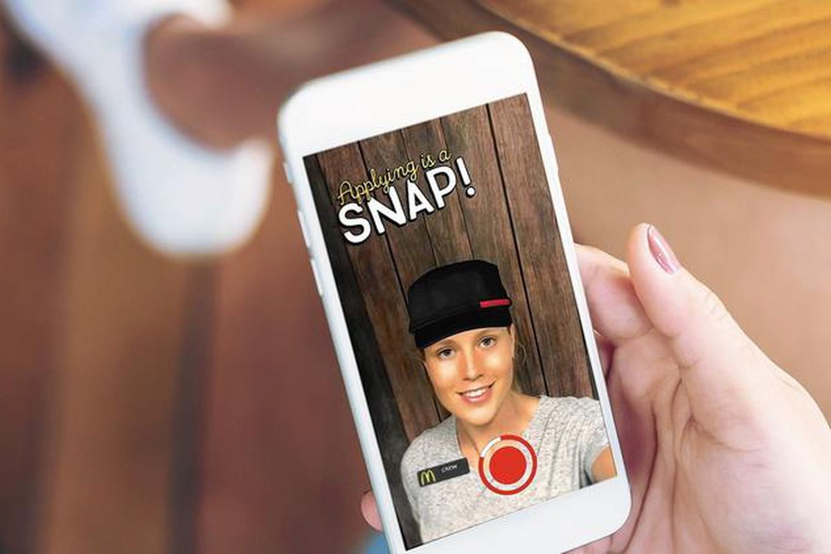 The Mcdonalds Snaplications Campaign Is Recruiting Teens Through