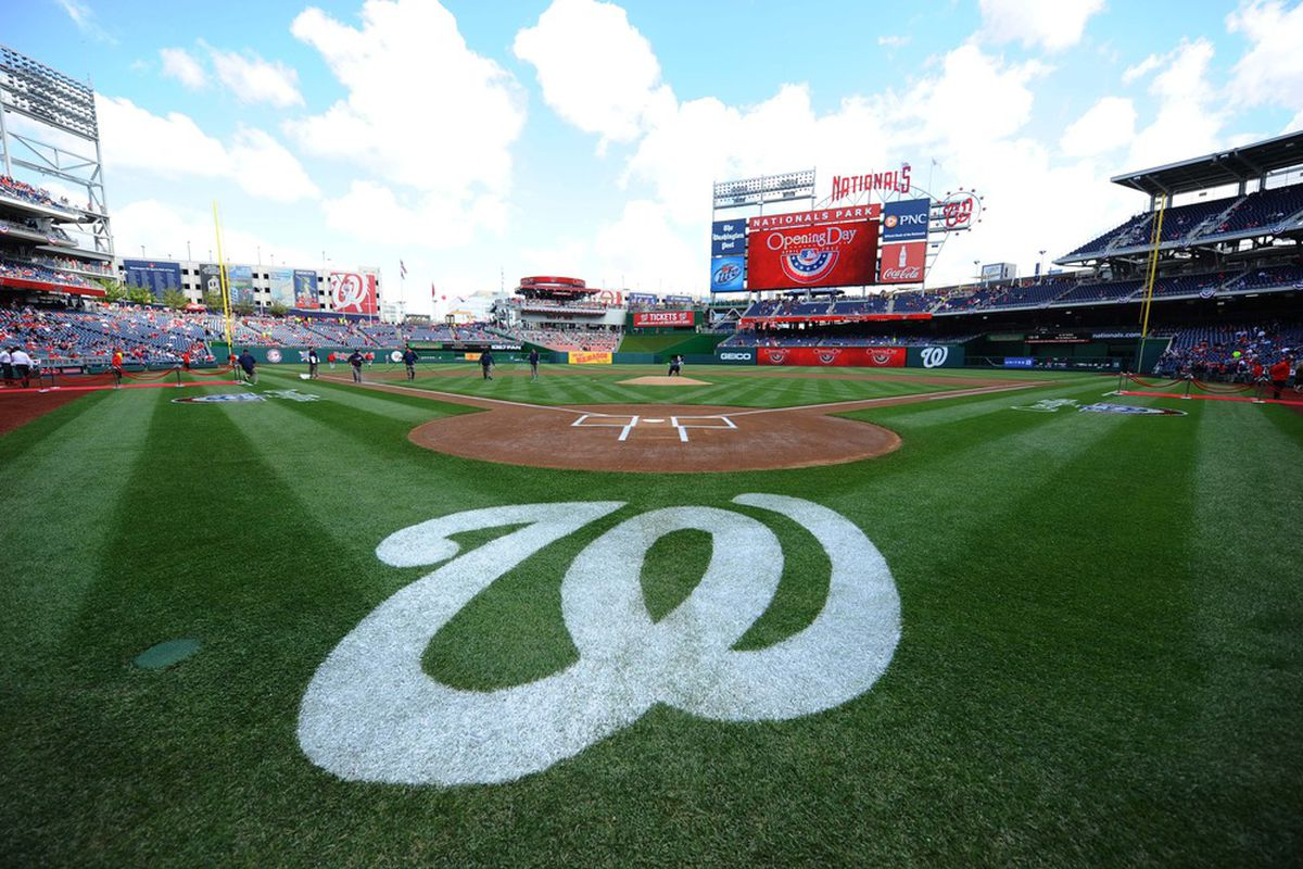 Apr 12, 2012; Washington, DC, USA; A general view of Nationals Park before the Washington Nationals home opener against the Cincinnati Reds.  Mandatory Credit: James Lang-US PRESSWIRE