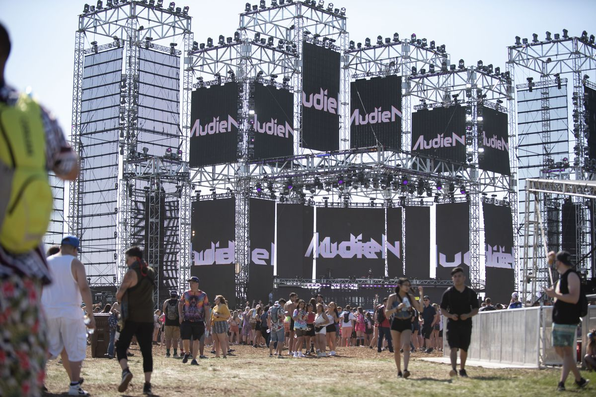 The Solstice stage is open for business as Audien performs during Day 1 of Spring Awakening Music Festival in Hoffman Estates on June 7, 2019.