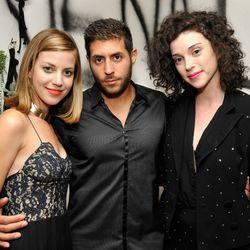 Vena Cava's Sophie Buhai with St. Vincent singer Annie Clark (right)