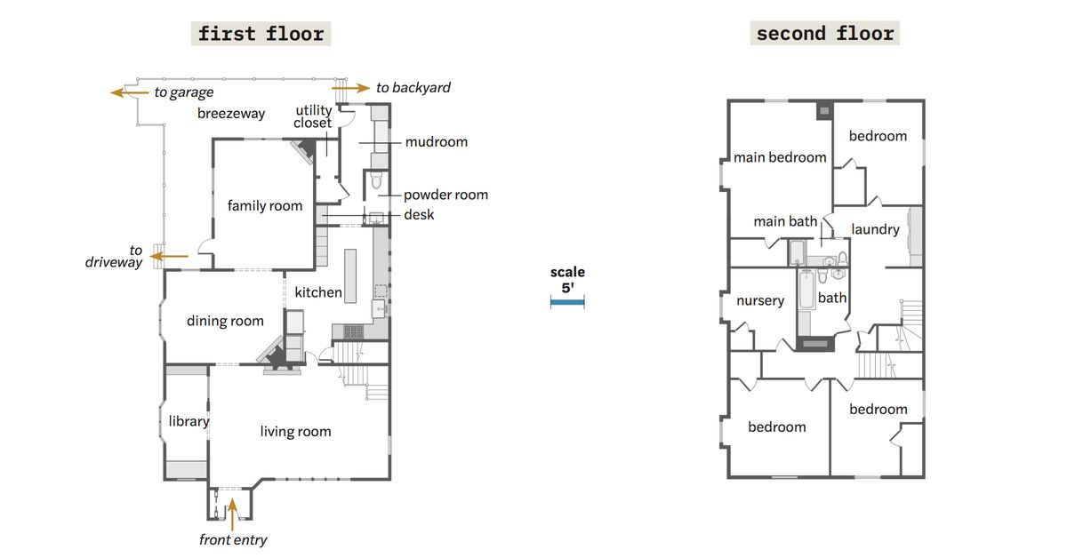 Summer 2021 House Tour, floor plans