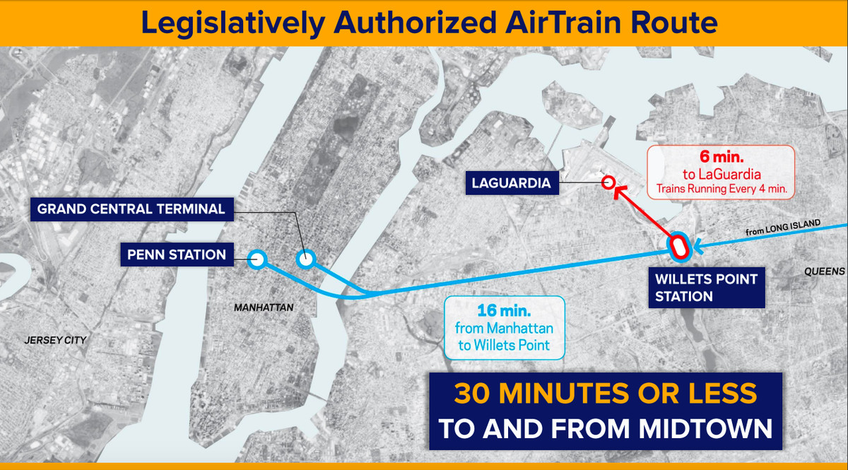 Laguardia Airport Subway Map.New Looks At Laguardia Airtrain Now One Step Closer To Reality