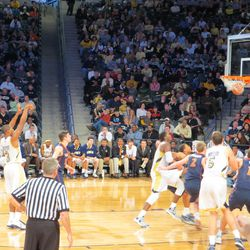 Marcus Georges-Hunt Making a Free Throw