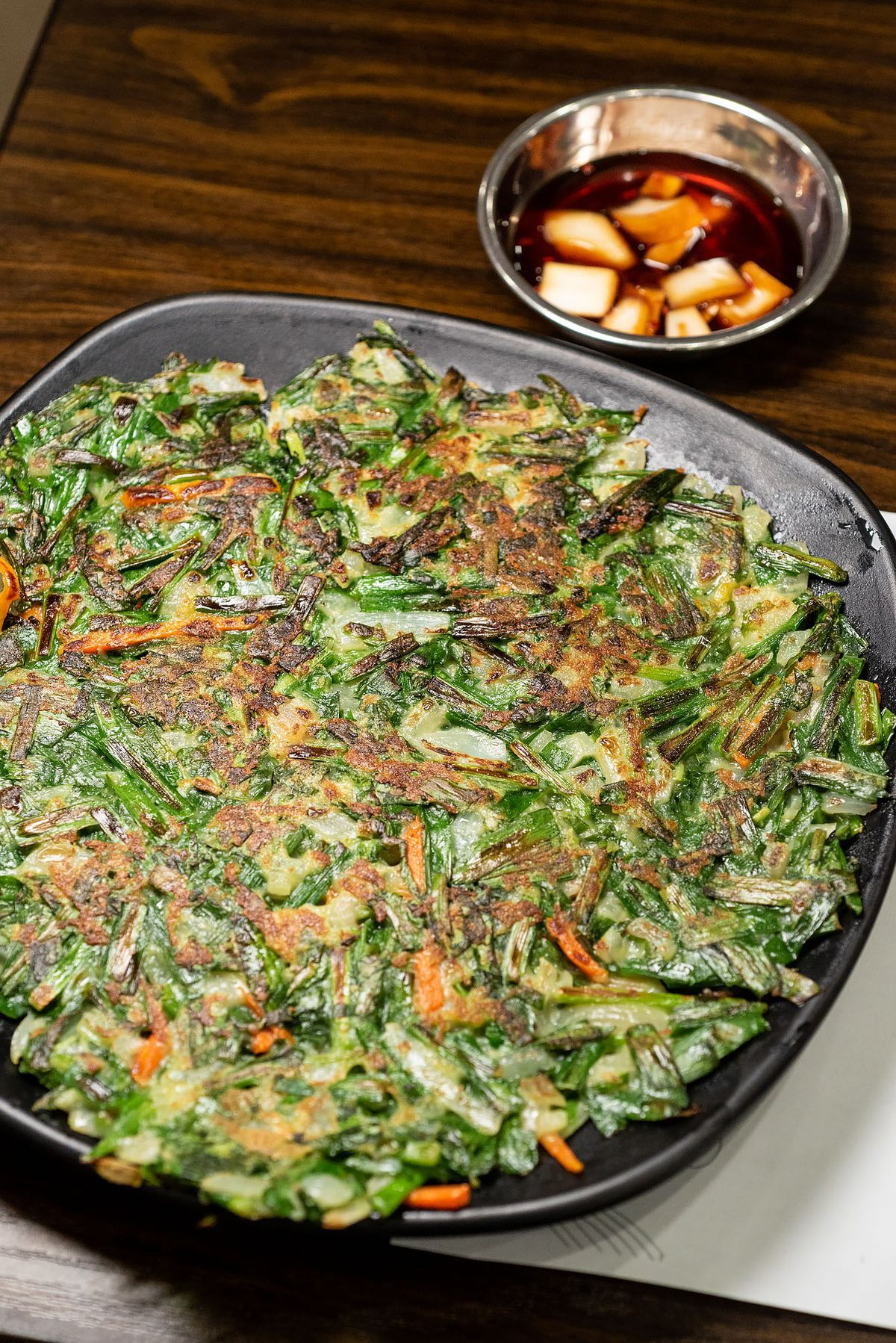 Green onion pancake at Hyesung Noodle House.