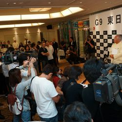 Later that afternoon, in Sendai, a showcase of local producers