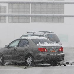 Four cars were involved in an accident on I-80 near 800 East in Salt Lake City Thursday, Dec. 19, 2013.