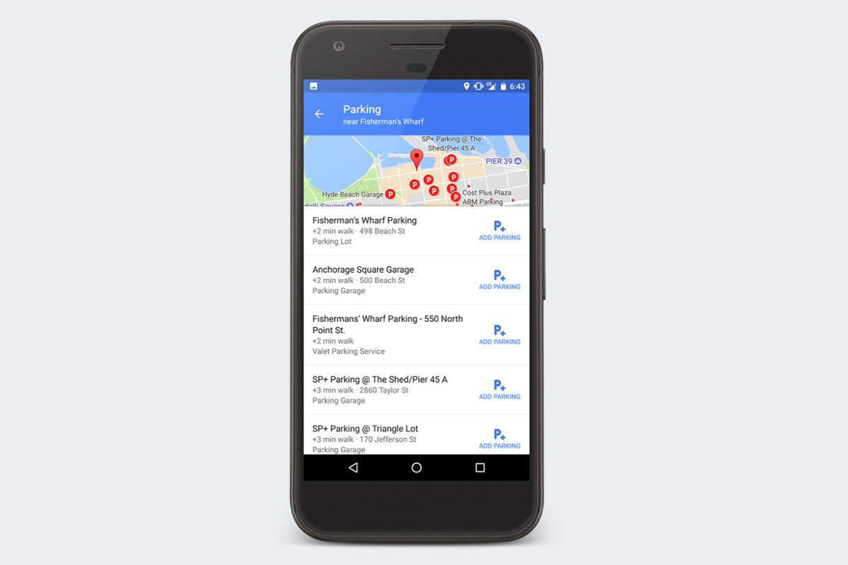 Google Maps adds even more parking features