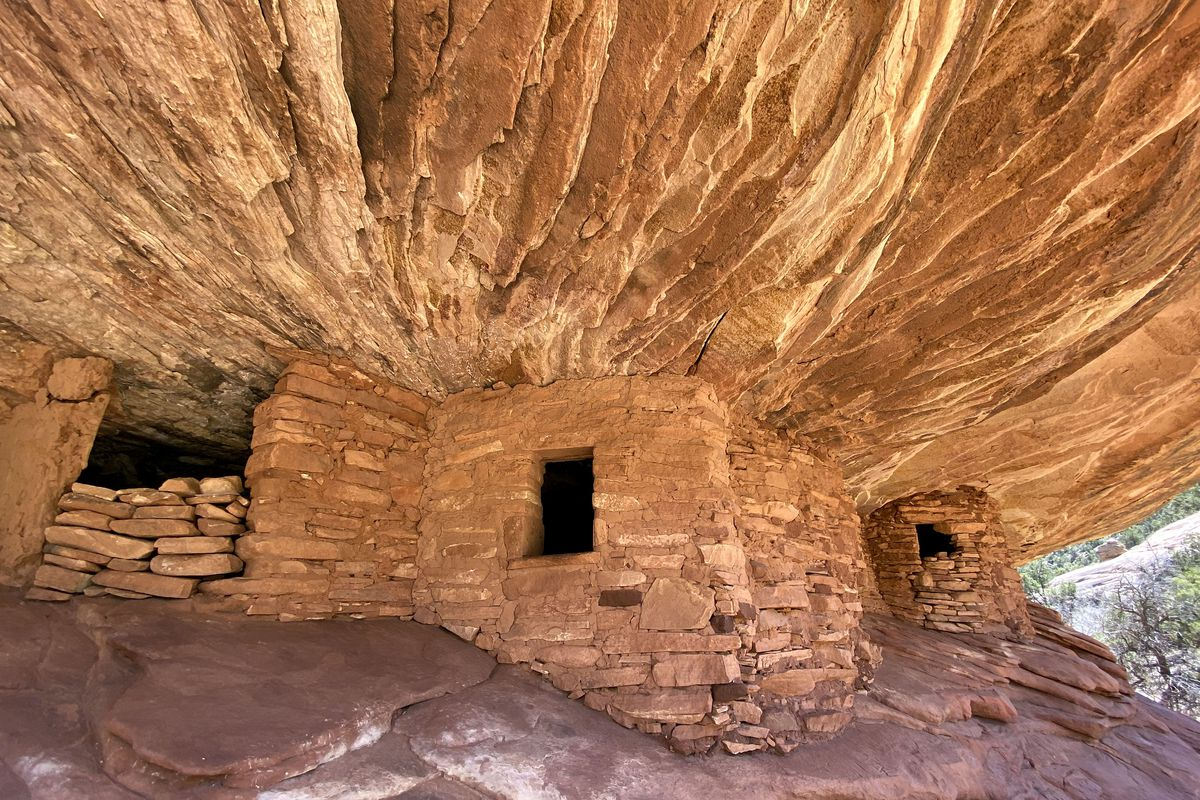 The House on Fire ruins are pictured in the Shash Jaa Unit of Bears Ears National Monument in San Juan County on April 9, 2021.