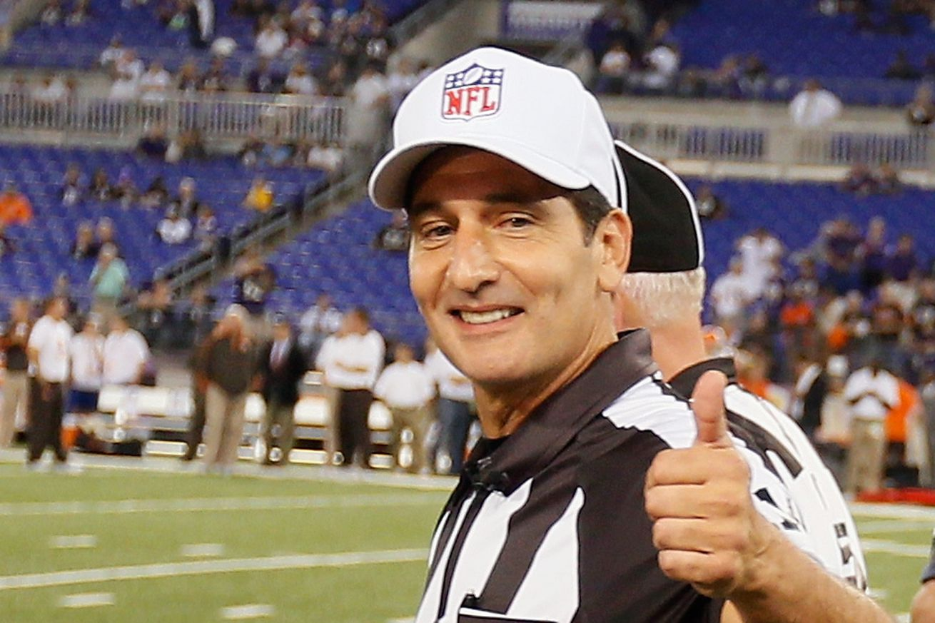 Notorious index card using official Gene Steratore retires from NFL
