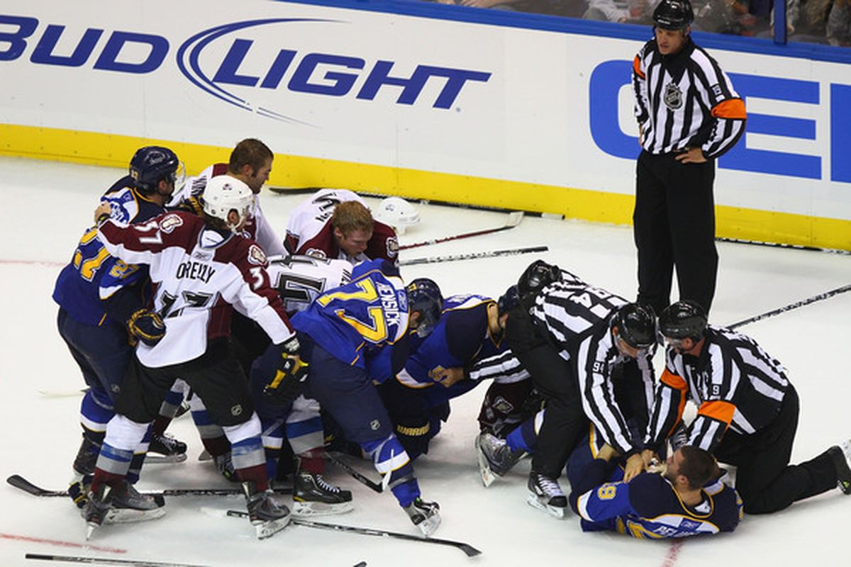 The refs and linesmen work out their fight separation kinks in the pre-season.