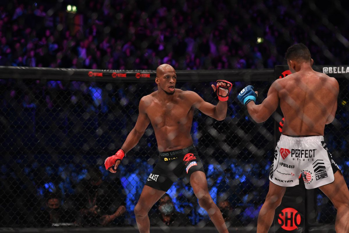 Michael Page and Douglas Lima fight at Bellator 267.