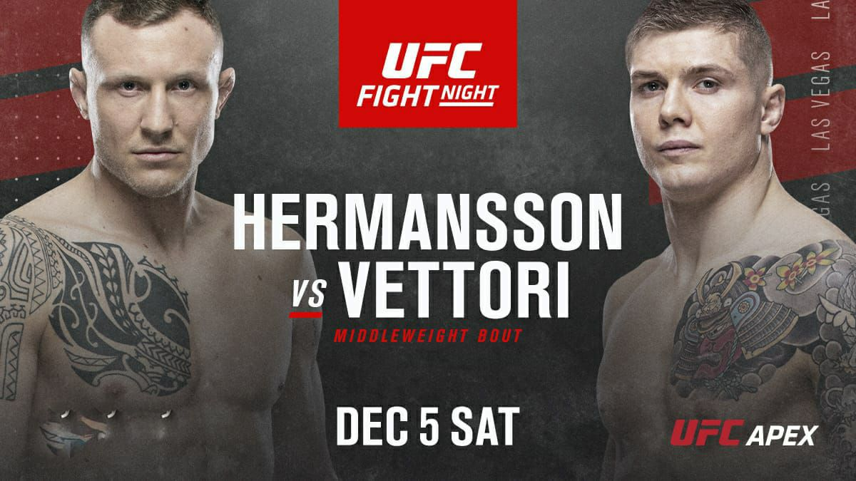 UFC Fight Night UFCVegas16: Hermansson vs. Vettori Full Fight Replay