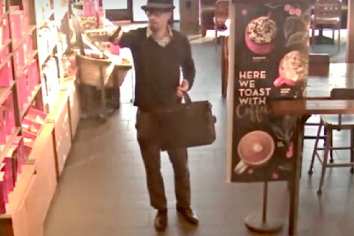 Your lattes are now safe from this guy and his trilby.