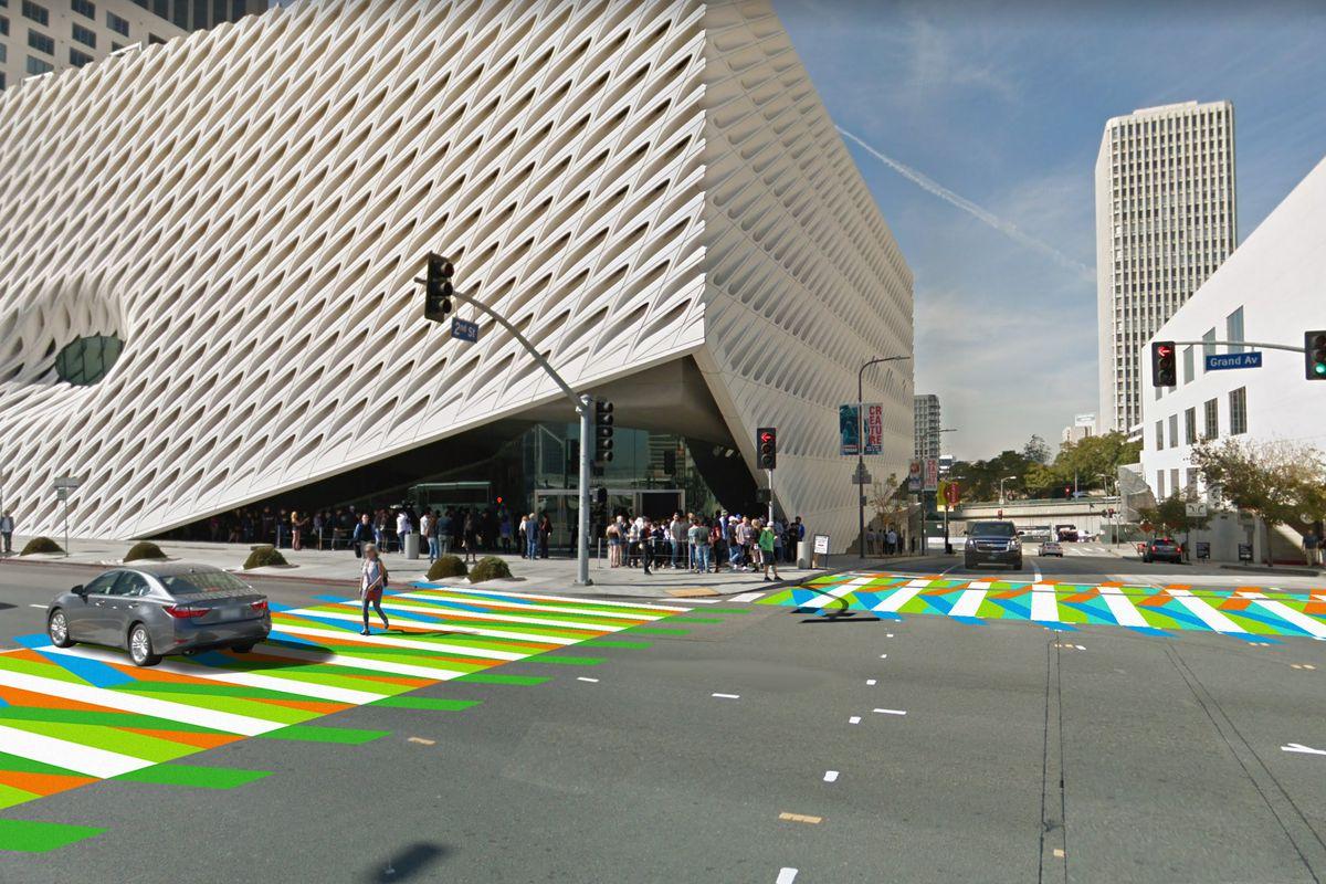 Rendering of new crosswalks