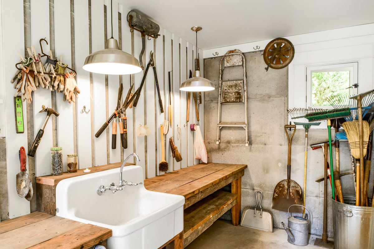 Sink Inside Garden Shed