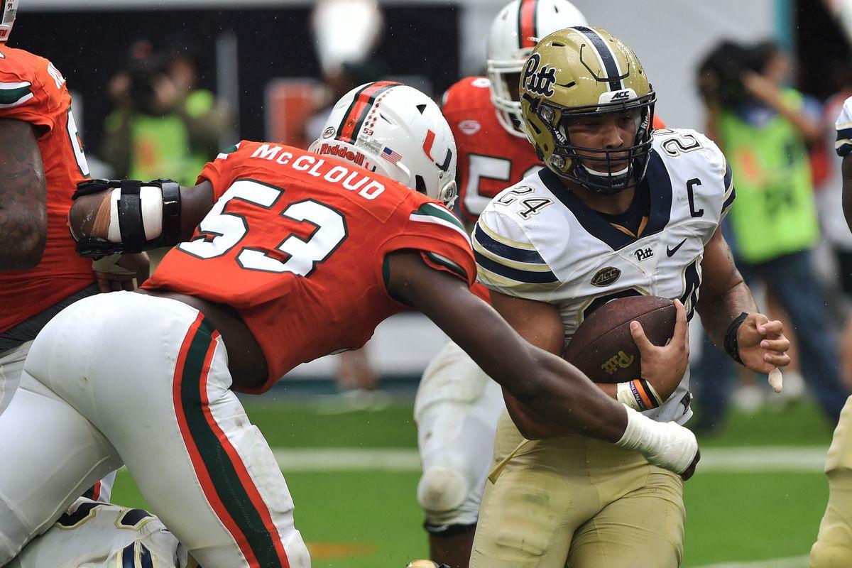 NCAA Football: Pittsburgh at Miami