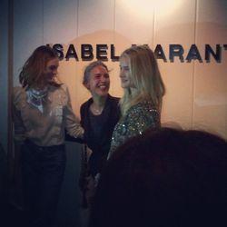 "Isabel Marant with superbabe Rosie Huntington-Whiteley. [Photo by @kristofferkosloff/<A href=""http://instagram.com/p/fUJPiJHRVX/"">Instagram</a>]"
