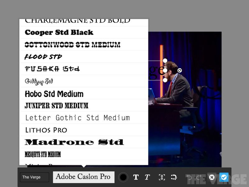 Adobe photoshop touch for ipad screenshots the verge adobe photoshop touch for ipad screenshots ccuart Choice Image