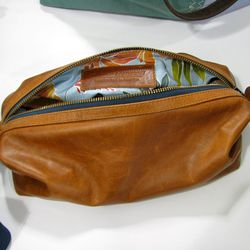 """We found a silky soft leather travel kit from <a href=""""http://www.clarkandmadison.com/"""">Clark & Madison</a> at Flagship's showroom.  Can't resist? Pick one up <a href=""""http://www.clarkandmadison.com/collections/accessories/products/travel-kit-rust"""">here</"""