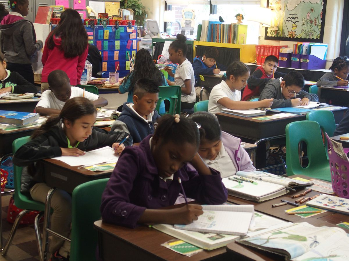 Hispanic students comprise 71 percent of the school's student population, much higher than the district average.