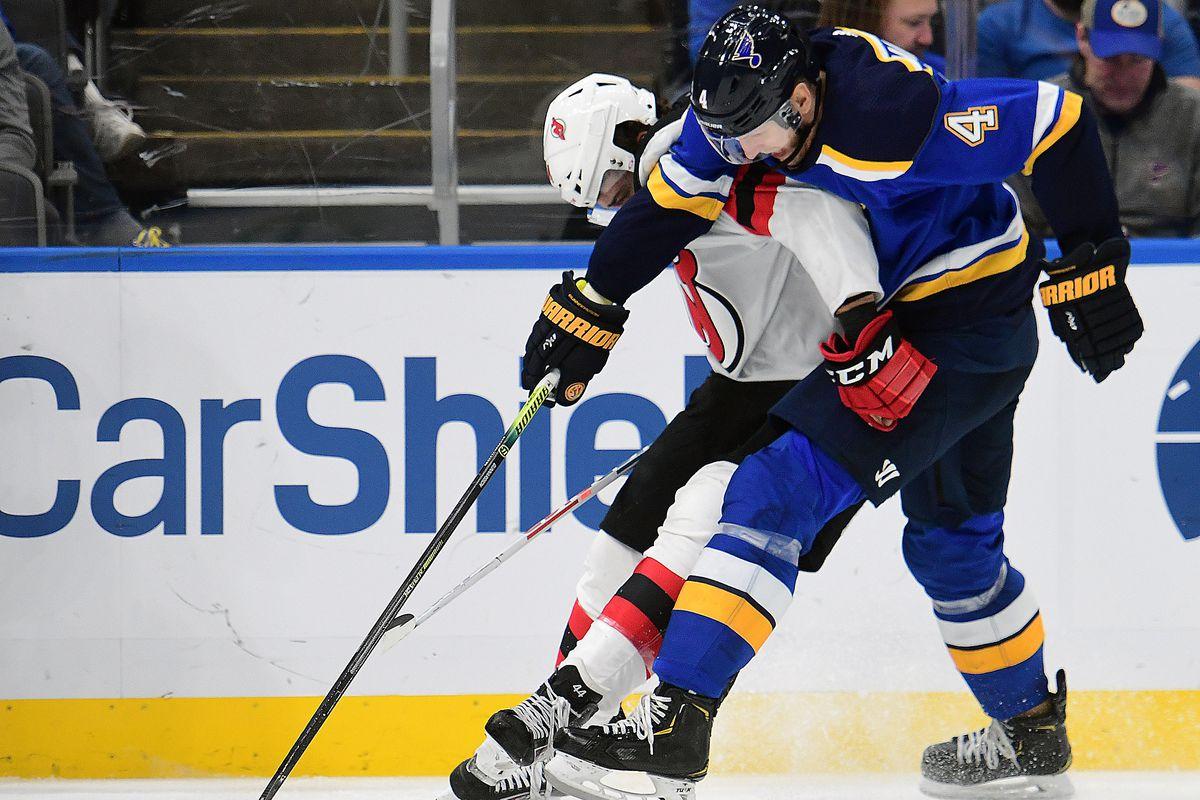 NHL: FEB 18 Devils at Blues