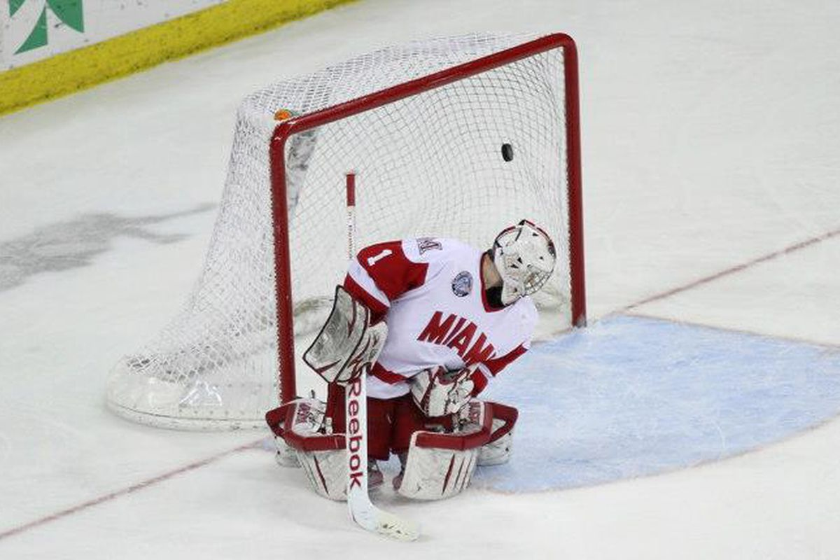 Joseph LaBate's goal carried Wisconsin to a 1-0 victory over Miami Friday night.