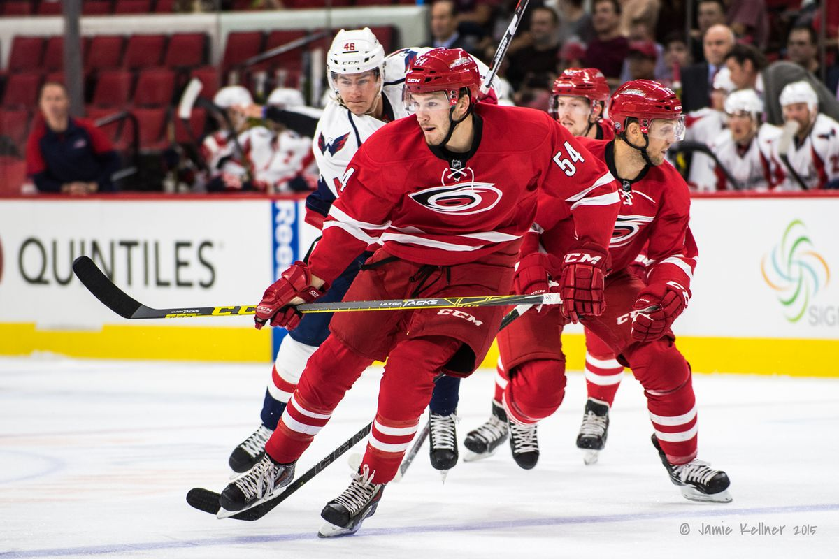 Brett Pesce, pictured, and Brock McGinn each earned their first NHL promotions Wednesday, and will join Carolina to start their seven-game road trip.