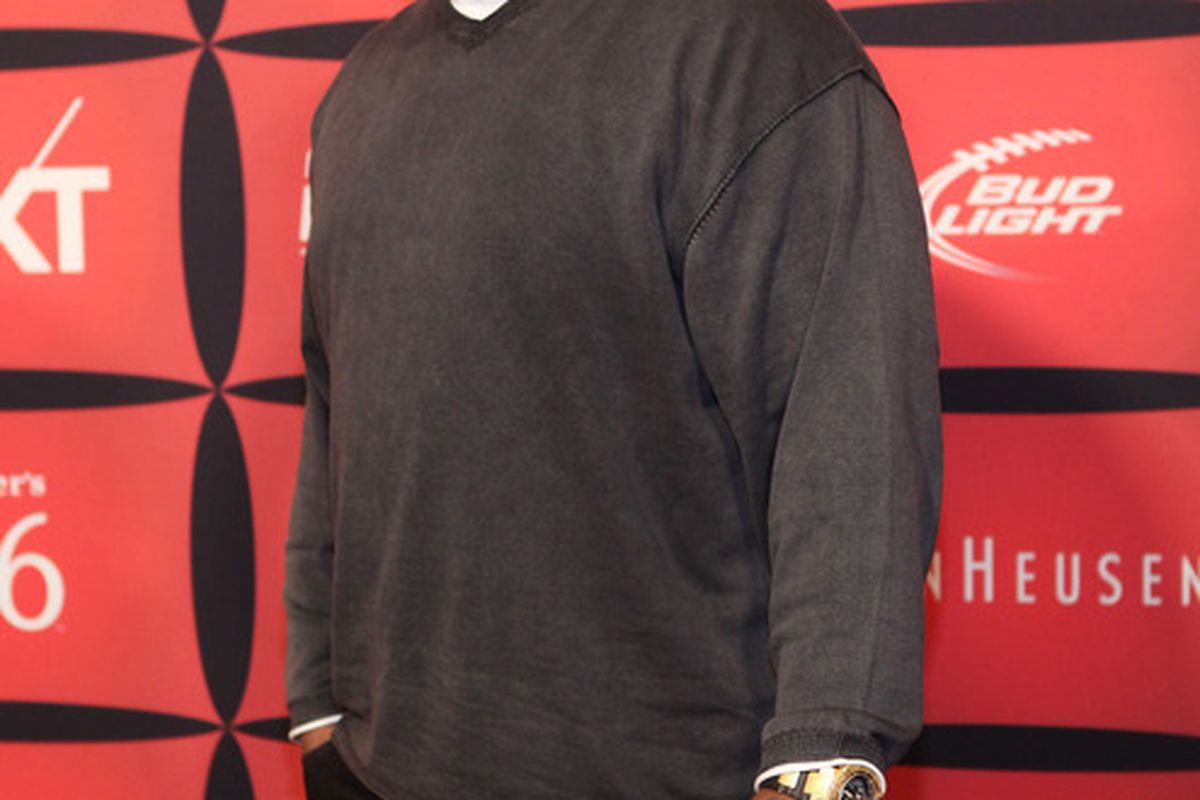 """INDIANAPOLIS, IN - FEBRUARY 03:  Professional football player Marcell Dareus attends ESPN The Magazine's """"NEXT"""" Event on February 3, 2012 in Indianapolis, Indiana.  (Photo by Robin Marchant/Getty Images for ESPN)"""